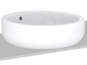 Ego umyvadlo kulaté na desku 45 cm bez otvoru, bílé