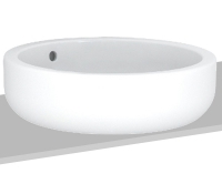 Ego umyvadlo kulaté na desku 45 cm bez otvoru, bílé, K12145000, Kolo