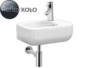 Ego umývátko 40 cm s otvorem vpravo, bílé+REFLEX