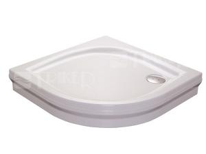 Elipso PAN vanička akrylátová samonosná  80 x 80 x 17,5cm R500, bílá