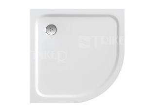 Elipso pro Chrome vanička zlitého mramoru 90 x 90 x 3cm, R500, bílá