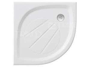 Elipso Pro vanička z litého mramoru  80 x 80 x 3 cm R500 bílá