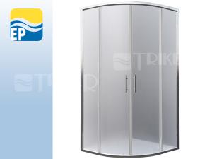 EP Houston Neo sprchový kout čtvrtkruhový 90 x 90 cm R550 profil:brillant, výplň:matt glass