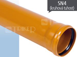EP KGEM kanalizační trubka SN4 125 x 3,2 x 3000 mm