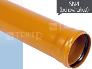 EP KGEM kanalizační trubka SN4 125 x 3,2 x 5000 mm