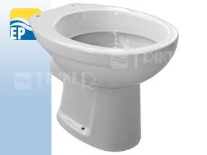 EP Klozet stojící vodorovný odpad/hluboké splachování bílý