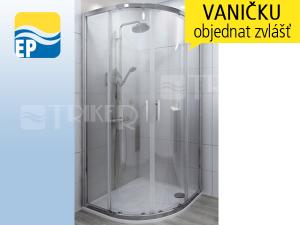 EP LTR2 sprchový kout čtvrtkruhový 90 x 90 cm R550 profil:brillant, výplň:transparent