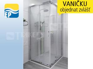 EP LTS2 sprchový kout rohový 90 x 90 cm profil:brillant, výplň:transparent