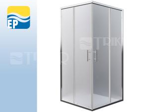 EP Orlando Neo sprchový kout rohový 80 x 80 cm profil:brillant, výplň:matt glass