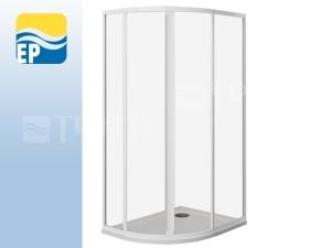 EP sprchový kout asymetrický 100 x 80 cm, profil:bílý, výplň:pearl