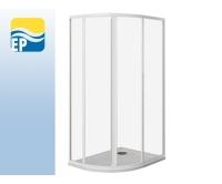 EP sprchový kout asymetrický 100 x 80 cm, profil:bílý, výplň:pearl, EP