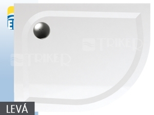 EP vanička z litého mramoru 100 x 80 cm levá, bílá