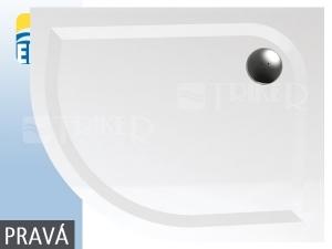 EP vanička z litého mramoru 100 x 80 cm pravá, bílá