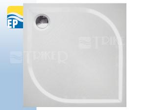 EP Vanička zlitého mramoru čtvercová 80 x 80 x 3 cm bílá