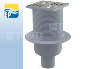EP Vpusť podlahová APV2 spodní odpad 50 mm, nerezová mřížka