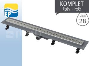 EP Žlab podlahový APZ9 Simple s roštem 750 mm