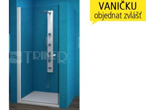 ESDKR sprchové dveře ESDKR 1/80 pravé, profil:bílý, výplň:čiré sklo