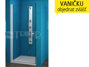 ESDKR sprchové dveře ESDKR 1/90 levé, profil:bílý, výplň:čiré sklo