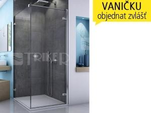 EST1 boční stěna 700 (682-700 mm) profil:aluchrom, výplň:čiré sklo