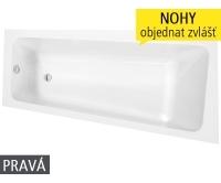Eva Side vana akrylátová 150 x 80 cm pravá, bílá, 9790000, Roltechnik