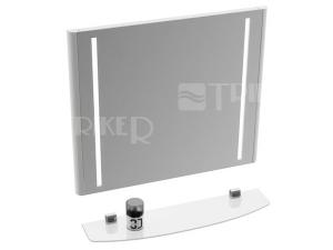 Evolution zrcadlo 70 x 66 cm s LED osvětlením bílé