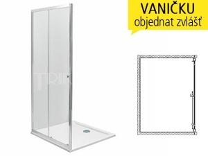 First sprchové dveře posuvné 2-dílné