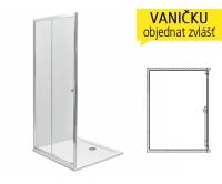 First sprchové dveře posuvné 2-dílné 120 cm (1180-1220mm) profil:stříbrný lesklý, výplň:satin, ZDDS12214003, Kolo