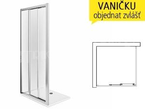 First sprchové dveře posuvné 3-dílné