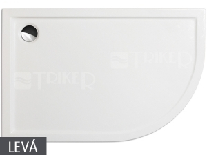 Flat Asymmetric vanička akrylátová 120 x 80 x 5 cm levá bílá