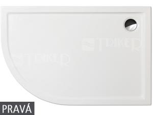 Flat Asymmetric vanička akrylátová 120 x 80 x 5 cm pravá bílá