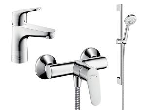 Focus sprchový komplet, chrom