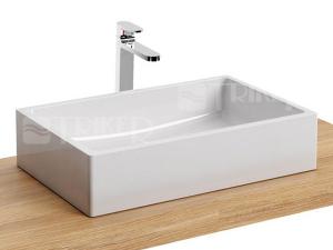 Formy 01 umyvadlo z litého mramoru 60 x 39 cm bez přepadu, bílé