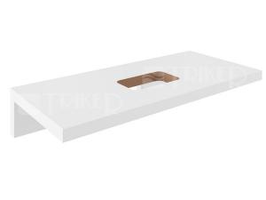 Formy deska pod umyvadlo L 120 cm, bílá