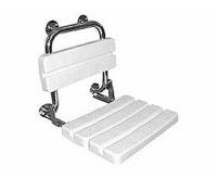 Funktion sedačka nerezová do sprchy s opěrkou, hladká, L1221100, Kolo