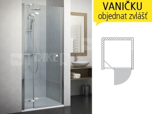 GDNL1 sprchové dveře GDNL1/1100 (1080-1120mm) profil:brillant, výplň:transparent