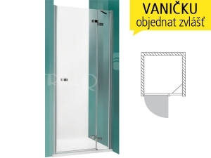 GDNP1 sprchové dveře GDNP1/1000 (980-1020mm) profil:brillant, výplň:transparent