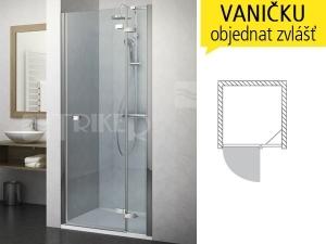 GDNP1 sprchové dveře GDNP1/1300 (1280-1320mm) profil:brillant, výplň:transparent