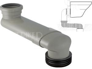 Geberit PVC WC koleno odskokové pro předstěnové moduly 14,5 - 34,5 cm