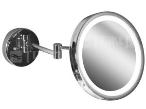 Generic kosmetické zrcátko s LED osvětlením, chrom