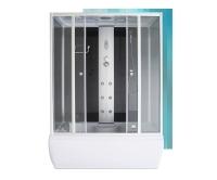 Gent Black masážní box 1500x850x2150mm, profil:stříbro, výplň:transparentní sklo, 4000442, Roltechnik