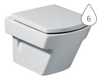 Hall klozet závěsný 50 cm hluboké splachování bílý, A346627000, Roca