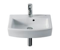 Hall umývátko 45 x 38 cm s otvorem, bílé, A327624000, Roca