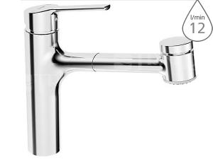 Hansa Ronda dřezová baterie s vytahovací sprchou, chrom