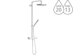 Hansa tempra Style sprchový systém s termostatem, chrom