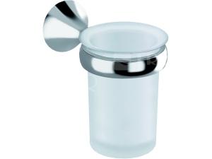 Heritage držák se skleněným pohárkem chrom