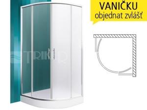 Houston Neo sprchový kout 900 (880-890mm) R550 profil:brillant, výplň:matt glass