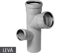 HTEP odbočka paneláková 110/110/75 mm 87° levá