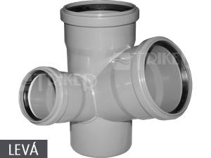 HTEPK odbočka paneláková krátká 110/110/50 mm 67° levá