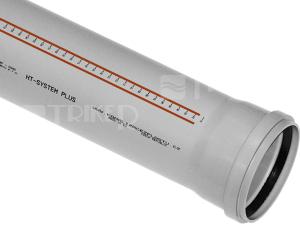 HTPP trubka odpadní 125 x 3,1 x 1000 mm