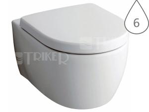 iCon klozet závěsný 53 cm Rimfree bez splachovacího kruhu, bílý